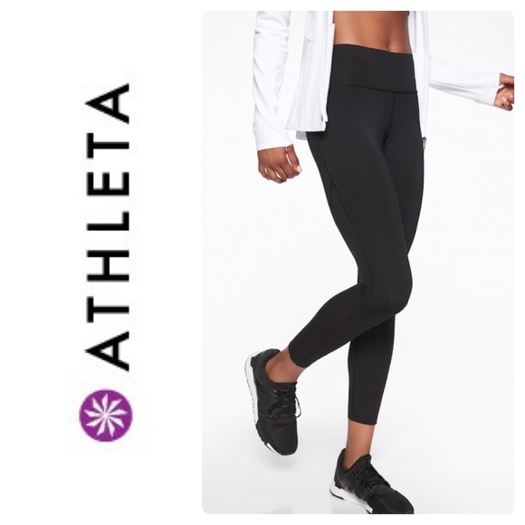 5d43371981 Athleta Pants | New Challenge 78 Tight In Black | Poshmark
